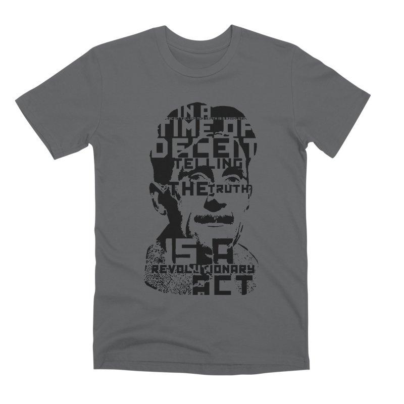 Orwell 'Deceit' (Black Style) Men's Premium T-Shirt by Mr Tee's Artist Shop