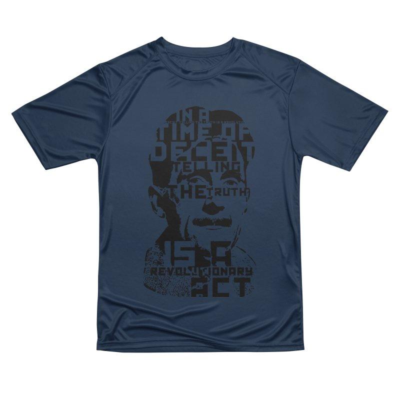 Orwell 'Deceit' (Black Style) Men's Performance T-Shirt by Mr Tee's Artist Shop