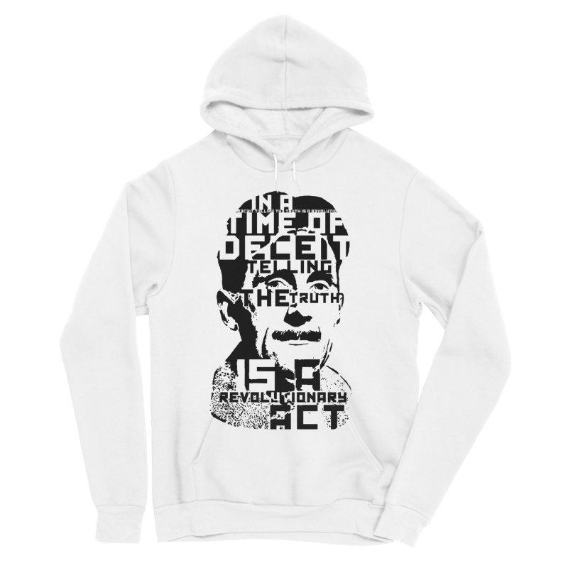 Orwell 'Deceit' (Black Style) Women's Sponge Fleece Pullover Hoody by Mr Tee's Artist Shop