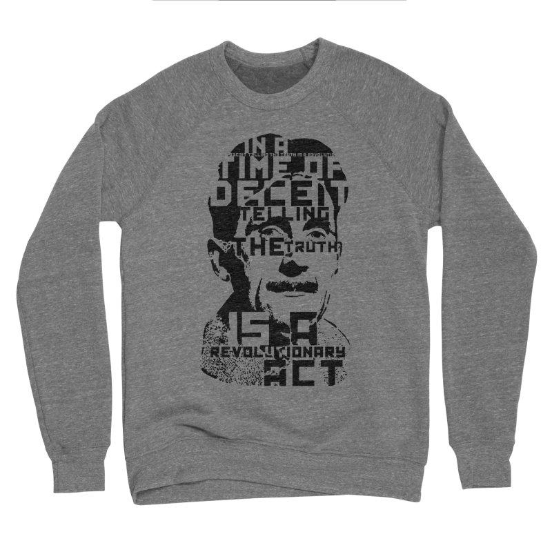 Orwell 'Deceit' (Black Style) Women's Sponge Fleece Sweatshirt by Mr Tee's Artist Shop