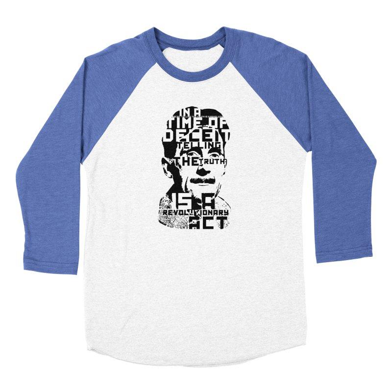 Orwell 'Deceit' (Black Style) Women's Longsleeve T-Shirt by Mr Tee's Artist Shop