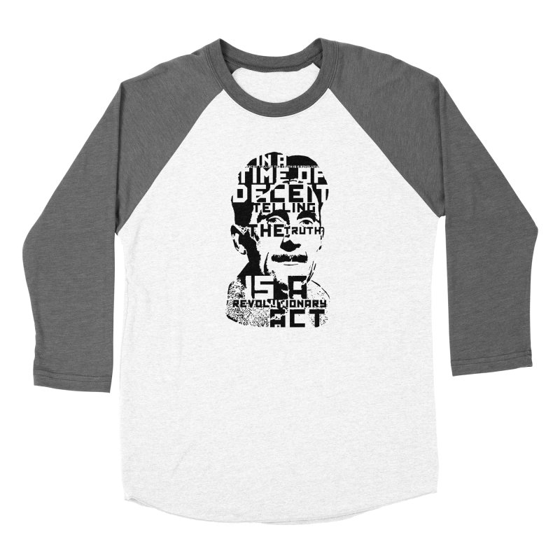 Orwell 'Deceit' (Black Style) Women's Longsleeve T-Shirt by Mr Tee's Artist Shop