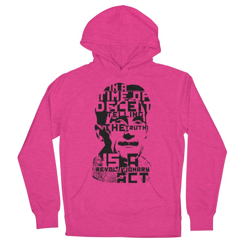 Orwell 'Deceit' (Black Style) Women's French Terry Pullover Hoody by Mr Tee's Artist Shop