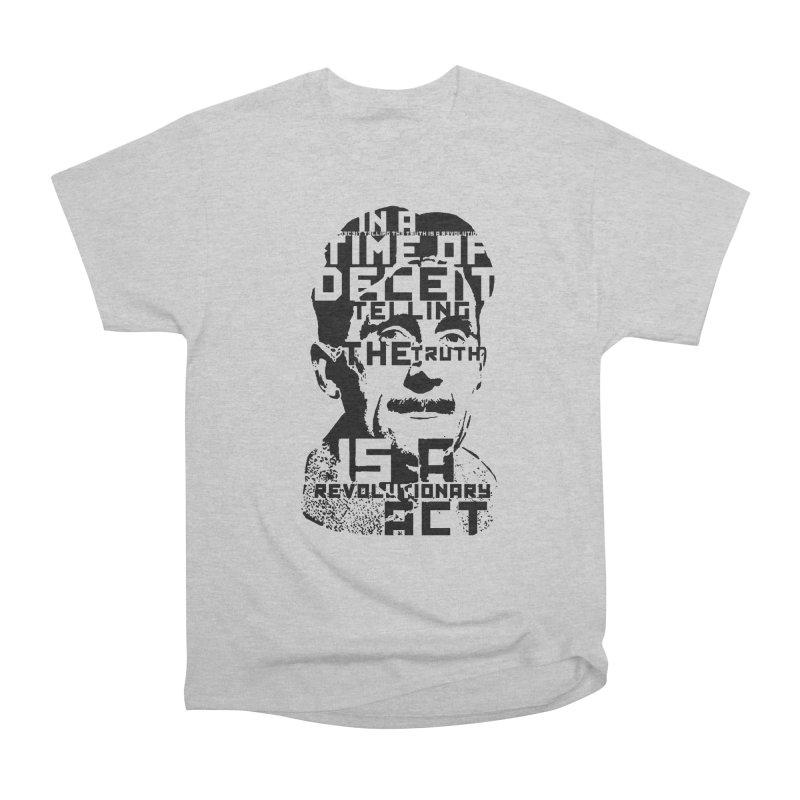 Orwell 'Deceit' (Black Style) Men's T-Shirt by Mr Tee's Artist Shop