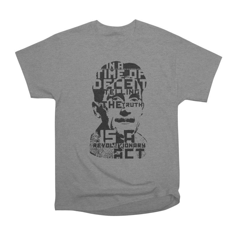 Orwell 'Deceit' (Black Style) Men's Heavyweight T-Shirt by Mr Tee's Artist Shop