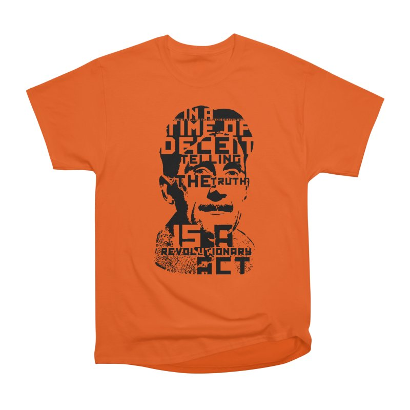Orwell 'Deceit' (Black Style) Women's T-Shirt by Mr Tee's Artist Shop