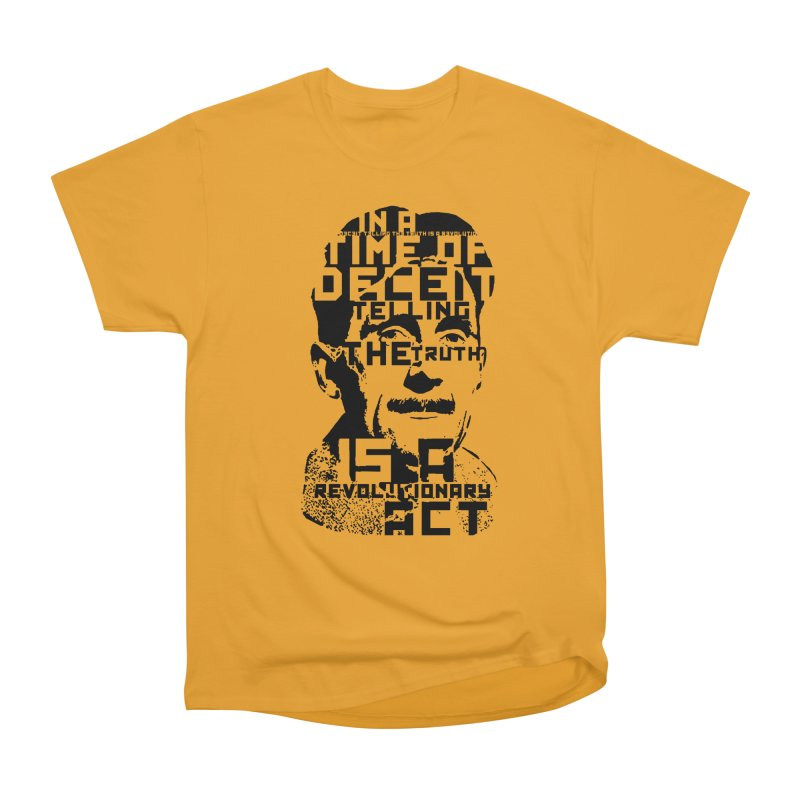 Orwell 'Deceit' (Black Style) Women's Heavyweight Unisex T-Shirt by Mr Tee's Artist Shop
