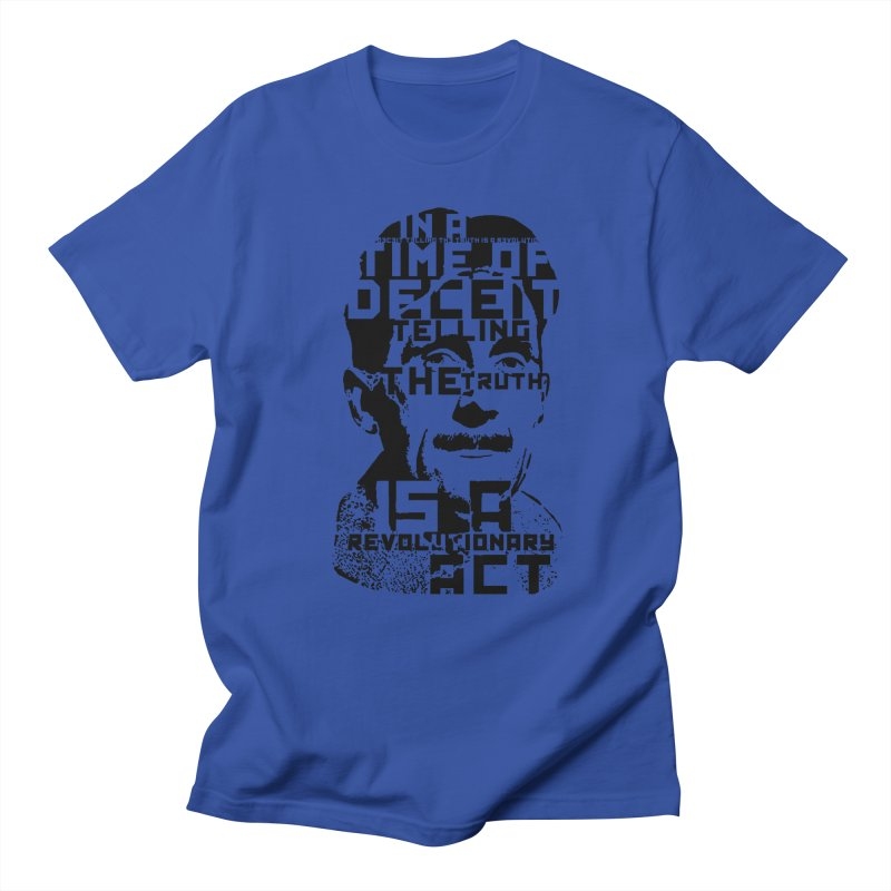 Orwell 'Deceit' (Black Style) Men's Regular T-Shirt by Mr Tee's Artist Shop