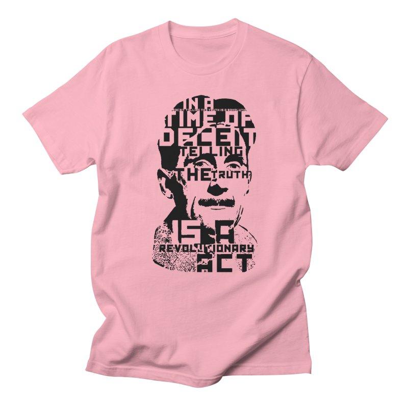 Orwell 'Deceit' (Black Style) Women's Regular Unisex T-Shirt by Mr Tee's Artist Shop