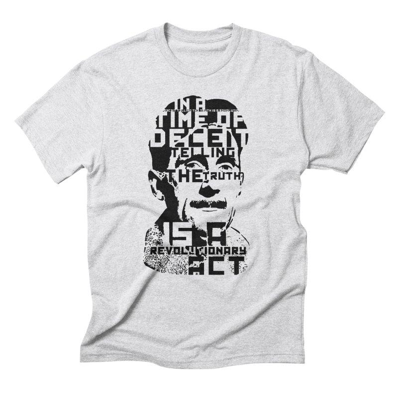 Orwell 'Deceit' (Black Style) Men's Triblend T-Shirt by Mr Tee's Artist Shop