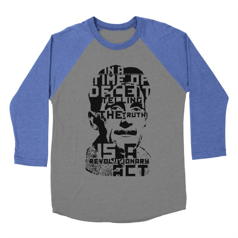 Orwell 'Deceit' (Black Style) Men's Baseball Triblend Longsleeve T-Shirt by Mr Tee's Artist Shop