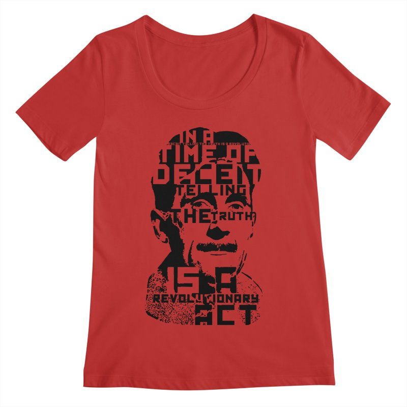 Orwell 'Deceit' (Black Style) Women's Regular Scoop Neck by Mr Tee's Artist Shop
