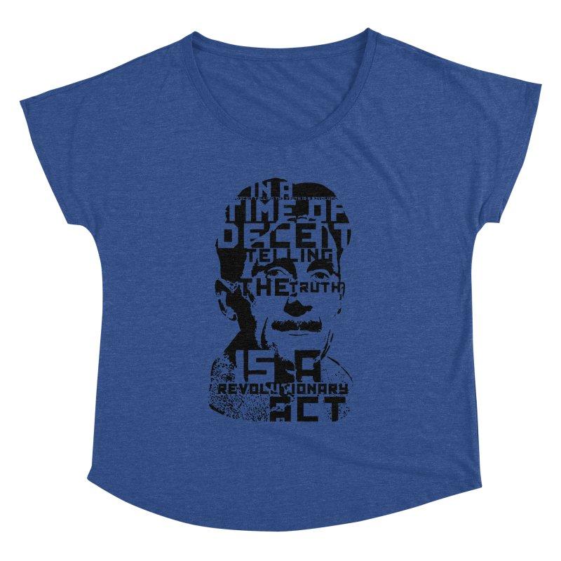 Orwell 'Deceit' (Black Style) Women's Dolman Scoop Neck by Mr Tee's Artist Shop