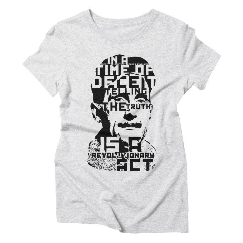 Orwell 'Deceit' (Black Style) Women's T-Shirt by Mr Tee's Artist Shop