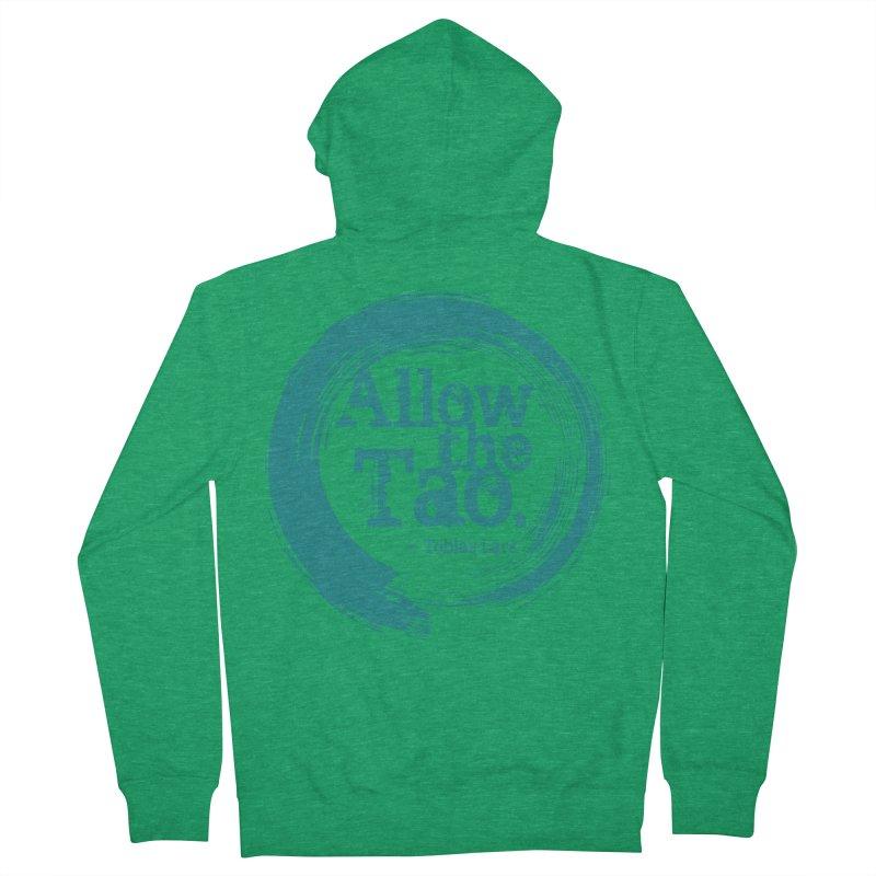 Allow the Tao (Turquoise) Men's Zip-Up Hoody by Mr Tee's Artist Shop
