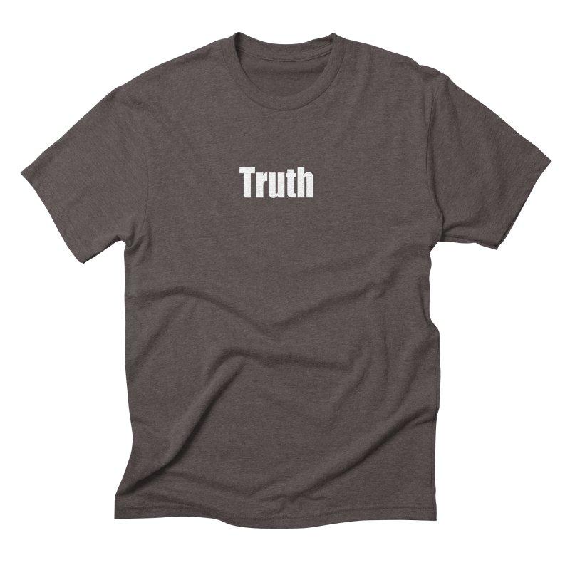 Truth Men's Triblend T-Shirt by Mr Tee's Artist Shop
