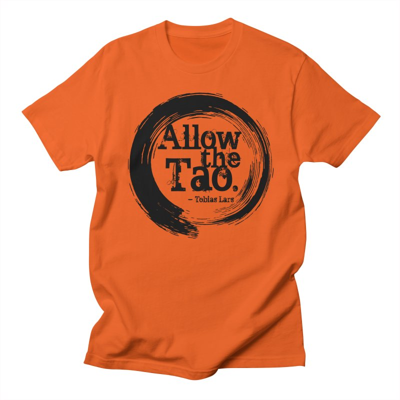 Allow the Tao - v2 in Men's T-shirt Orange Poppy by Mr Tee's Artist Shop