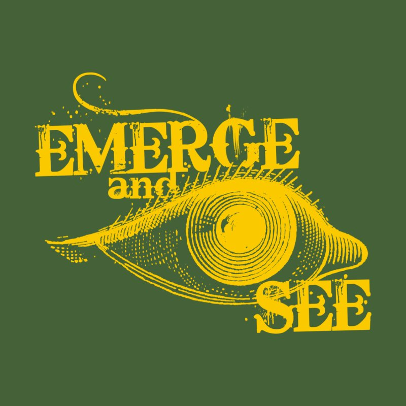 Emerge and See (Gold) Women's Longsleeve T-Shirt by Mr Tee's Artist Shop