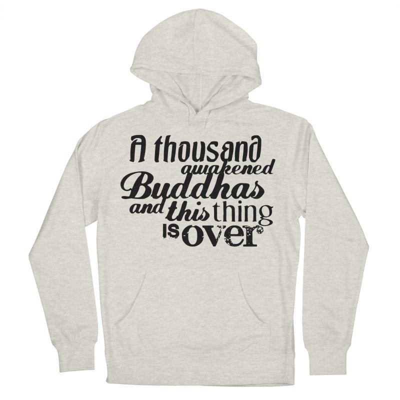 A Thousand Awakened Buddhas in Men's Pullover Hoody Heather Oatmeal by Mr Tee's Artist Shop