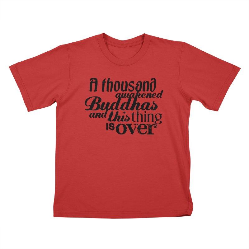 A Thousand Awakened Buddhas Kids T-Shirt by Mr Tee's Artist Shop