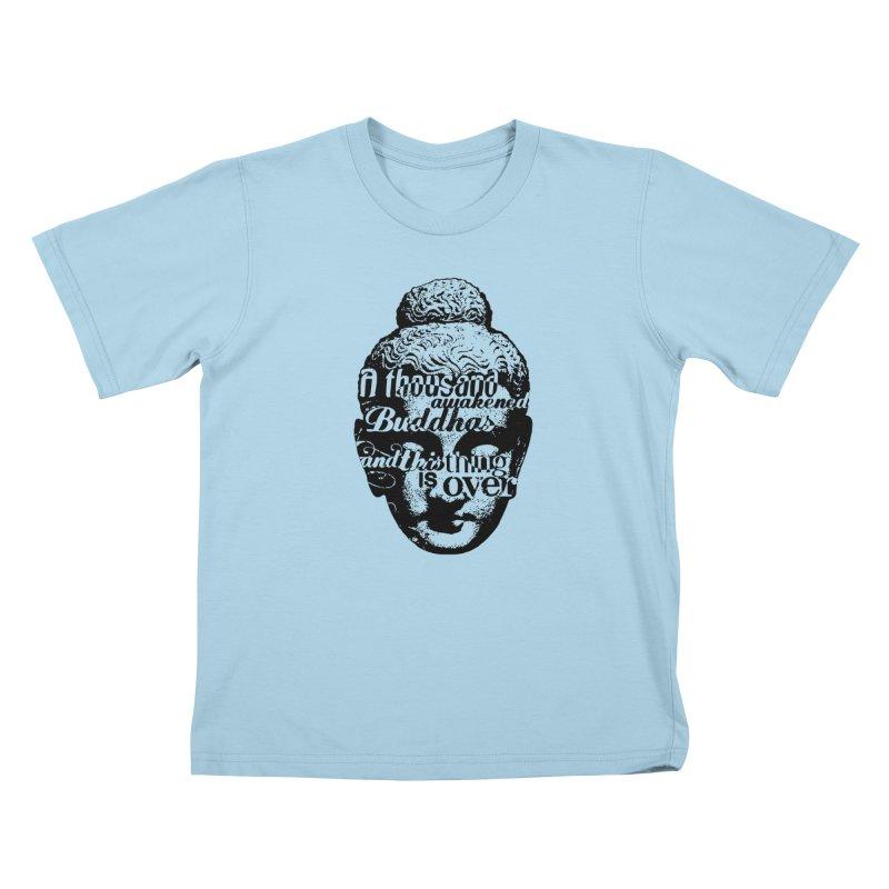 A Thousand Awakened Buddhas - V2 Kids T-Shirt by Mr Tee's Artist Shop