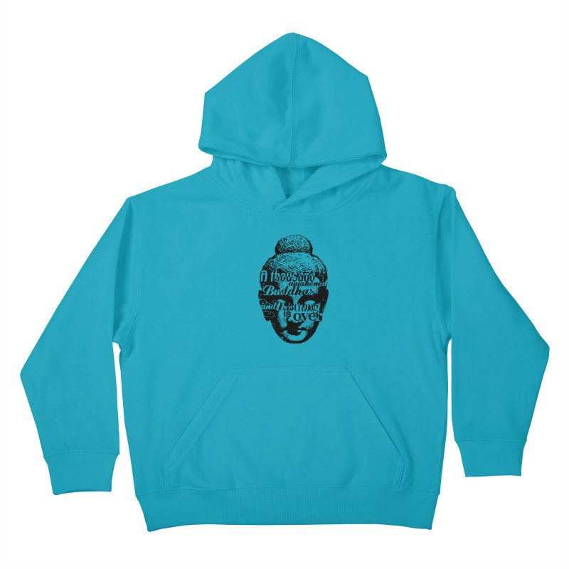 A Thousand Awakened Buddhas - V2 Kids Pullover Hoody by Mr Tee's Artist Shop