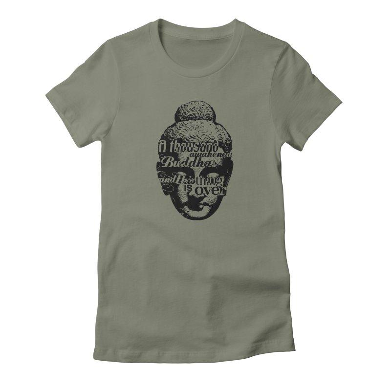A Thousand Awakened Buddhas - V2 Women's T-Shirt by Mr Tee's Artist Shop