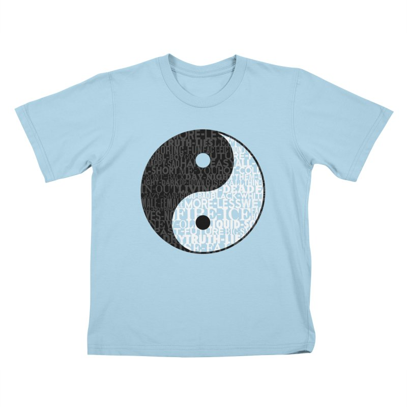 A World of Opposites Kids T-Shirt by Mr Tee's Artist Shop