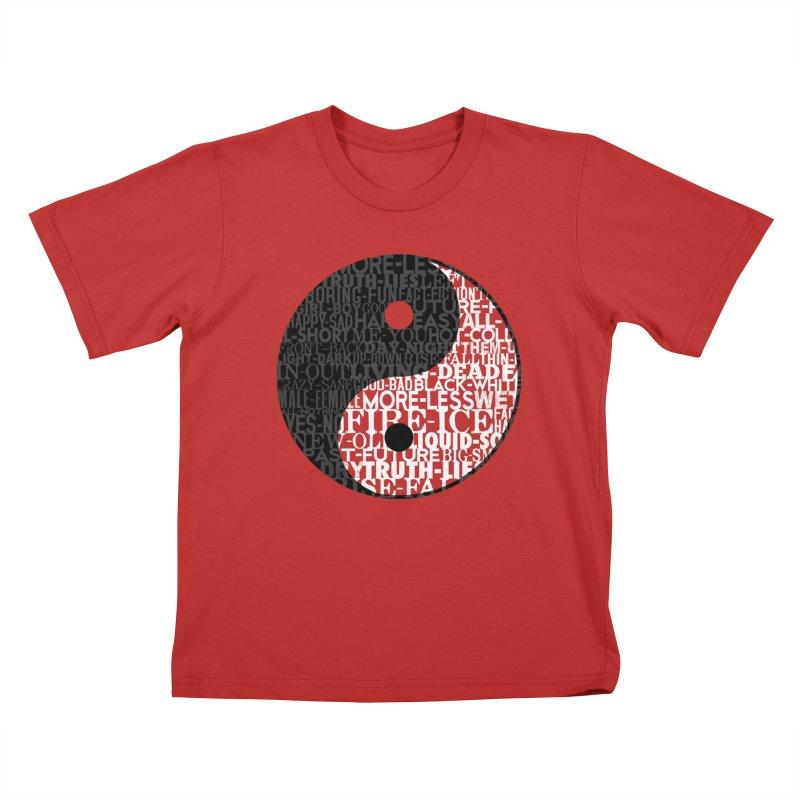 A World of Opposites Kids T-Shirt by Mr Tee's Artist Shop