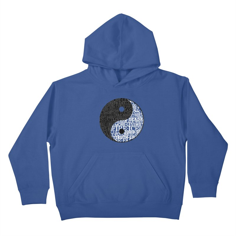 A World of Opposites Kids Pullover Hoody by Mr Tee's Artist Shop
