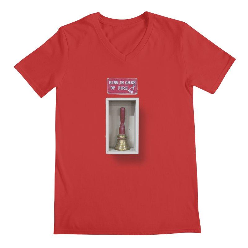 Ring In Case of Emergency Men's Regular V-Neck by Mrc's Artist Shop