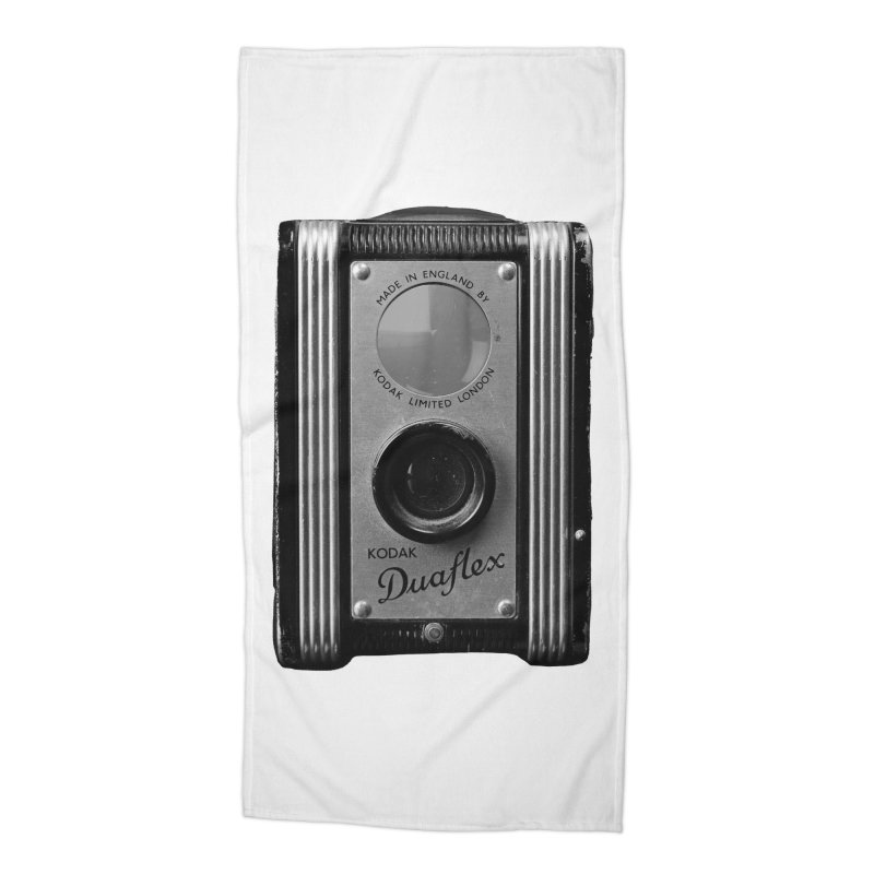 Vintage Camera Accessories Beach Towel by Mrc's Artist Shop