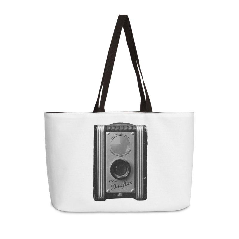 Vintage Camera Accessories Weekender Bag Bag by Mrc's Artist Shop