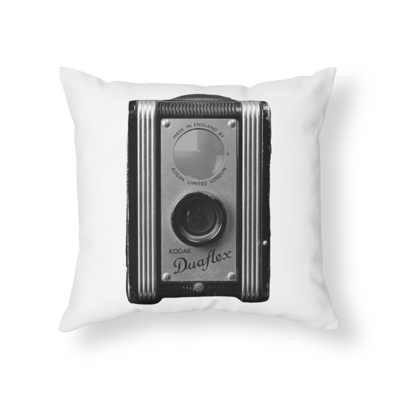 Vintage Camera Home Throw Pillow by Mrc's Artist Shop