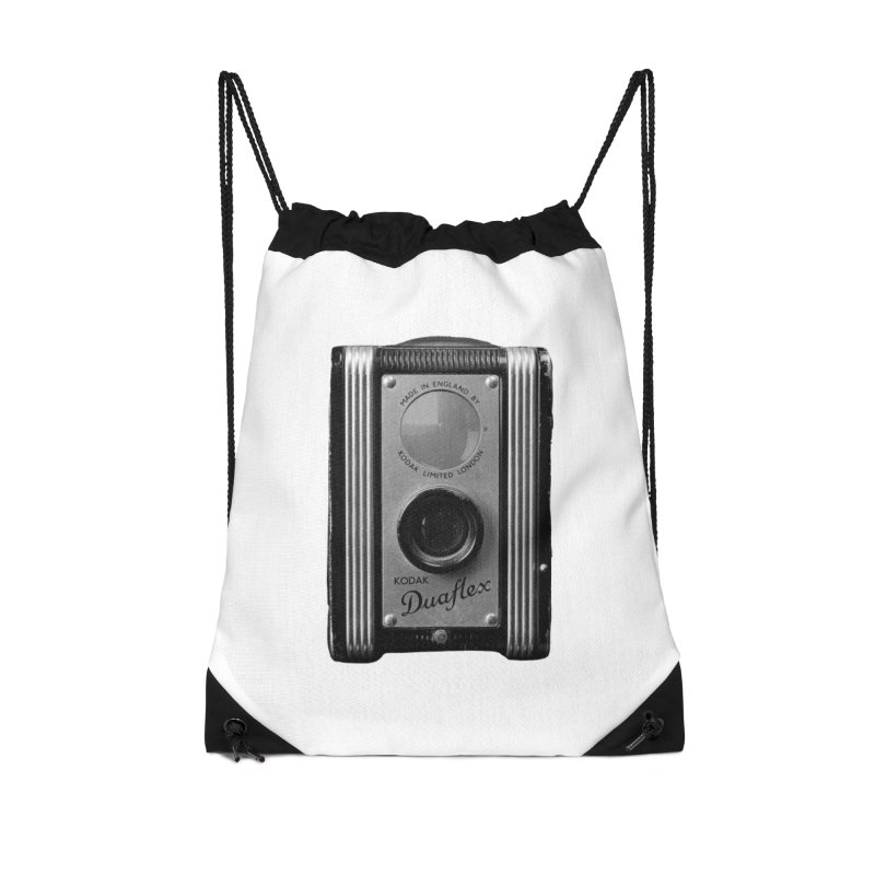 Vintage Camera Accessories Drawstring Bag Bag by Mrc's Artist Shop