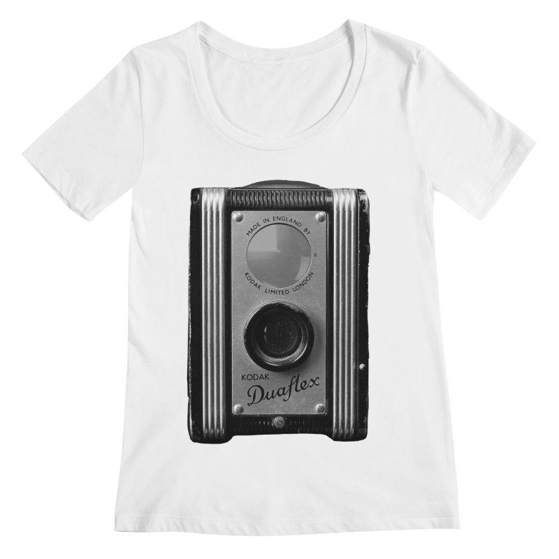 Vintage Camera Women's Regular Scoop Neck by Mrc's Artist Shop