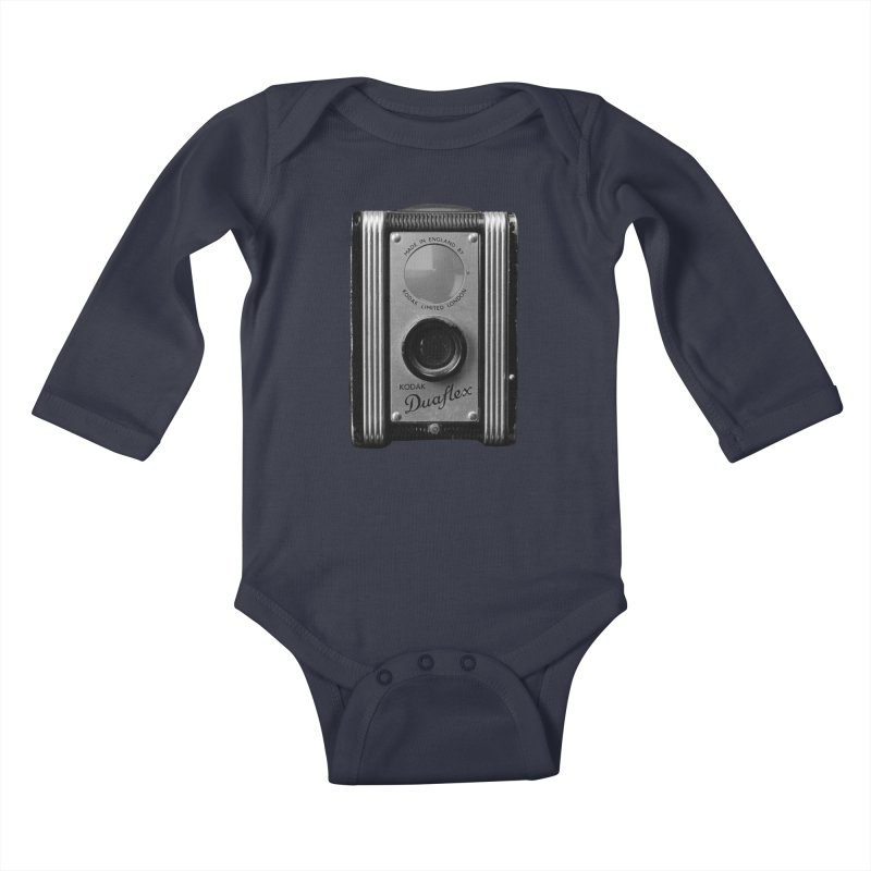 Vintage Camera Kids Baby Longsleeve Bodysuit by Mrc's Artist Shop