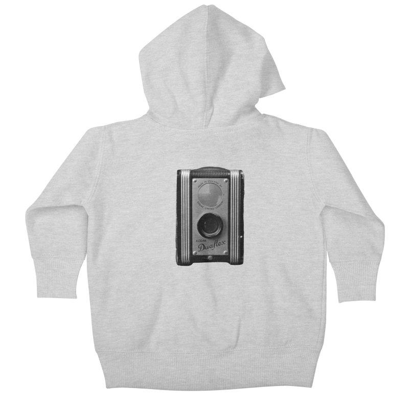 Vintage Camera Kids Baby Zip-Up Hoody by Mrc's Artist Shop