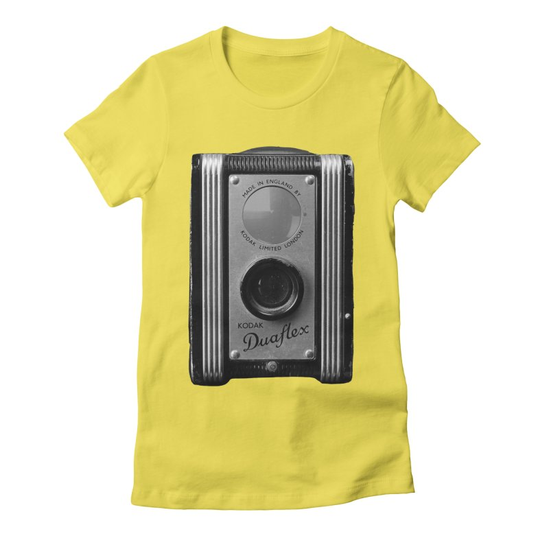Vintage Camera Women's Fitted T-Shirt by Mrc's Artist Shop