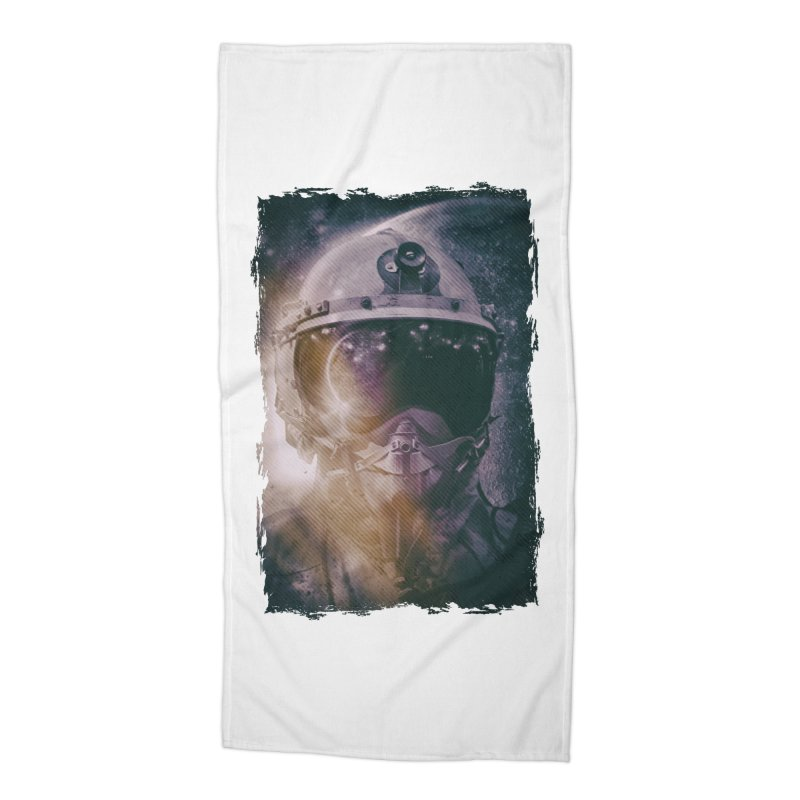 Different type of Astronut Accessories Beach Towel by Mrc's Artist Shop