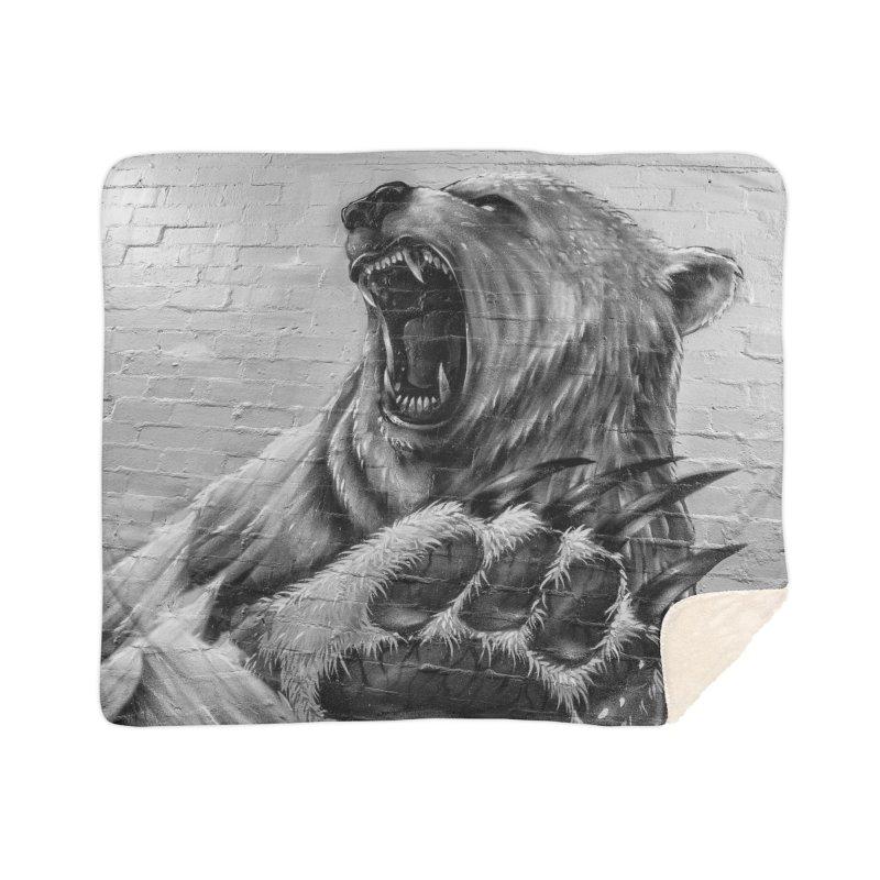 Roaring Bear Home Blanket by Mrc's Artist Shop