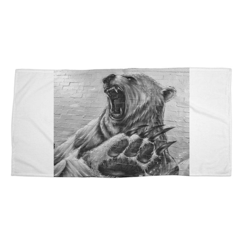 Roaring Bear Accessories Beach Towel by Mrc's Artist Shop