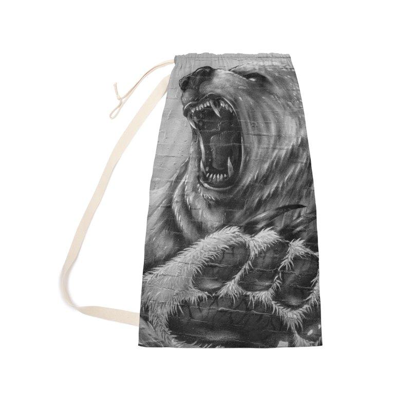 Roaring Bear Accessories Bag by Mrc's Artist Shop