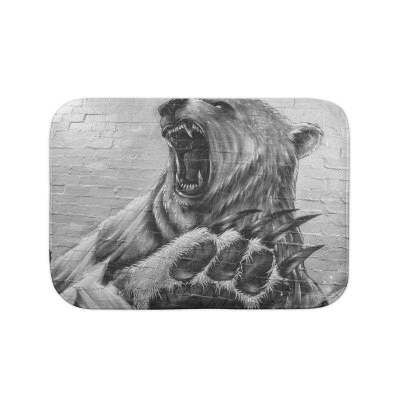 Roaring Bear Home Bath Mat by Mrc's Artist Shop