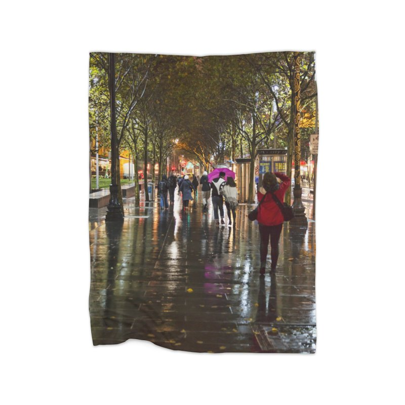 Beautiful Wet Night in the City Home Blanket by Mrc's Artist Shop