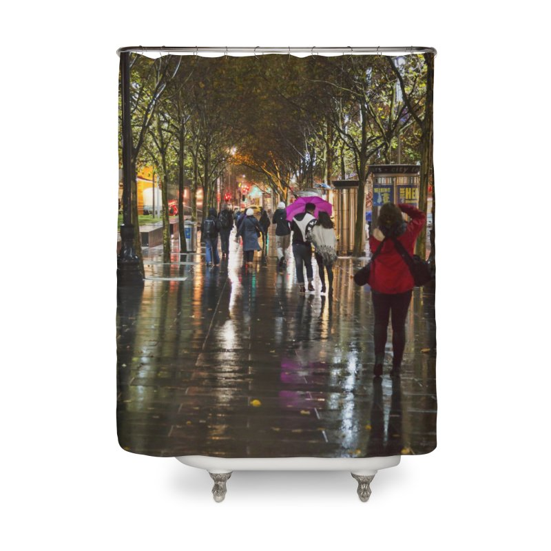 Beautiful Wet Night in the City Home Shower Curtain by Mrc's Artist Shop