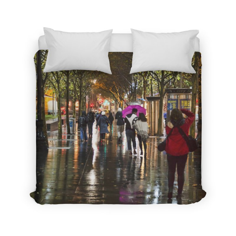 Beautiful Wet Night in the City Home Duvet by Mrc's Artist Shop