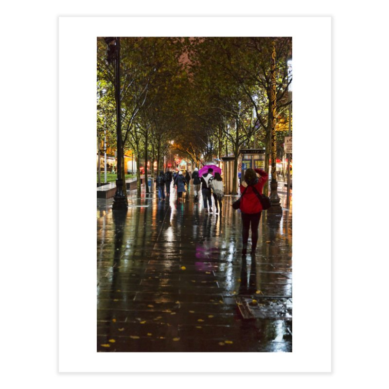Beautiful Wet Night in the City Home Fine Art Print by Mrc's Artist Shop