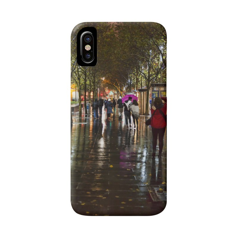 Beautiful Wet Night in the City Accessories Phone Case by Mrc's Artist Shop