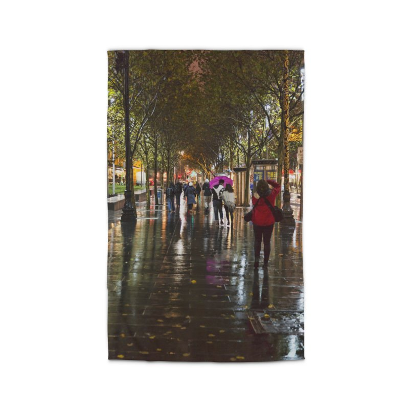 Beautiful Wet Night in the City Home Rug by Mrc's Artist Shop